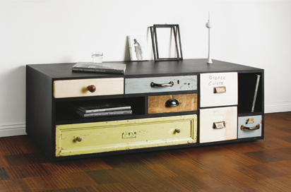 Vintage Dresser Draws Modern Design